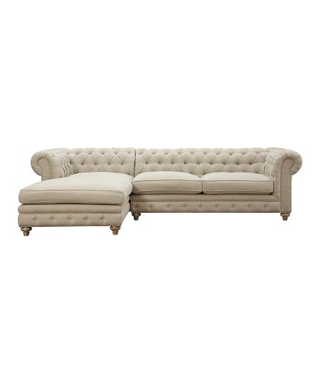 Love This Product Oxford Beige Linen Laf Sectional Sofa