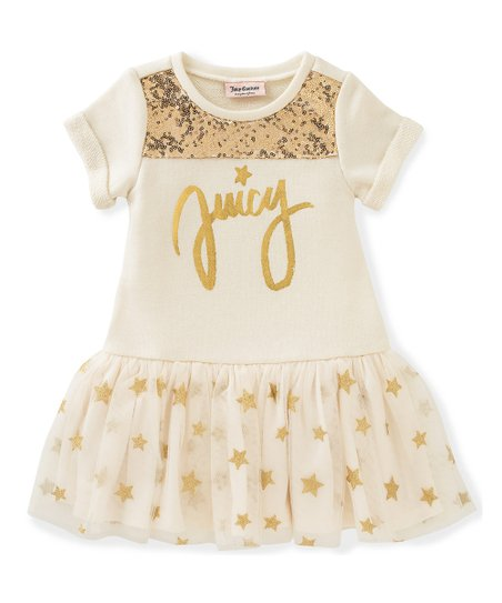 love this product White   Gold  Juicy  Drop-Waist Dress - Toddler 02429ba737