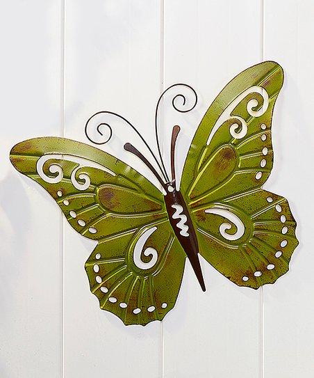 Green Wrought Iron Butterfly Wall Décor | zulily