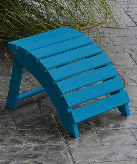 Swell Al Furniture Caribbean Blue Folding Pine Ottoman Zulily Ibusinesslaw Wood Chair Design Ideas Ibusinesslaworg