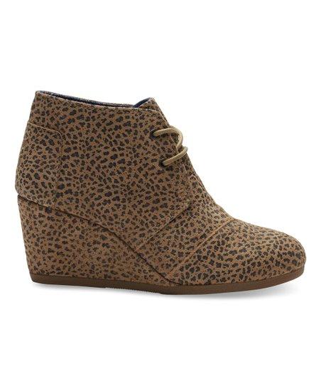 efd85d15bbd TOMS Cheetah Suede Desert Wedge Bootie - Women