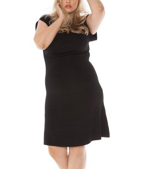 d39048b35b6 love this product Black Cap-Sleeve Sweater Dress - Women   Plus