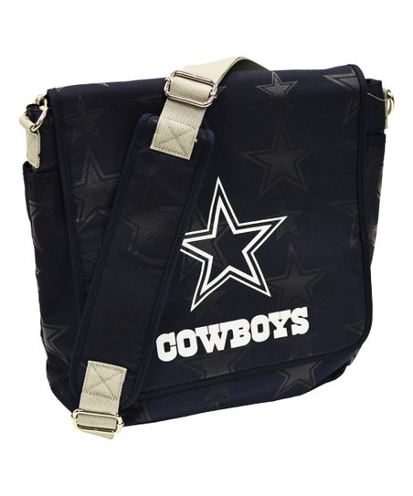 Blue Gray Dallas Cowboys Messenger Diaper Bag
