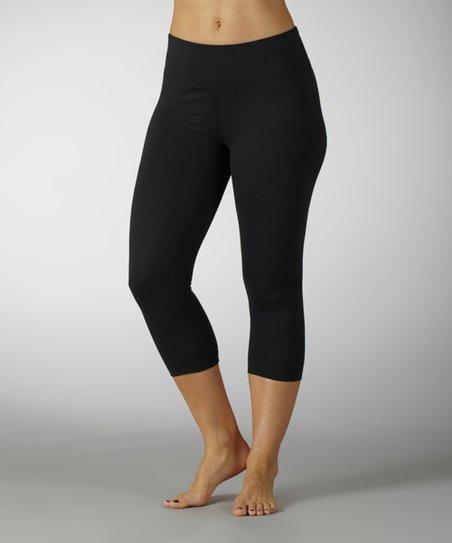 e4370a56c59669 Marika Black Sanded Dry-Wik Capri Leggings | Zulily
