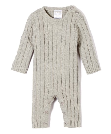 64f9c61b530b love this product Gray Cable-Knit Sweater Romper - Newborn   Infant