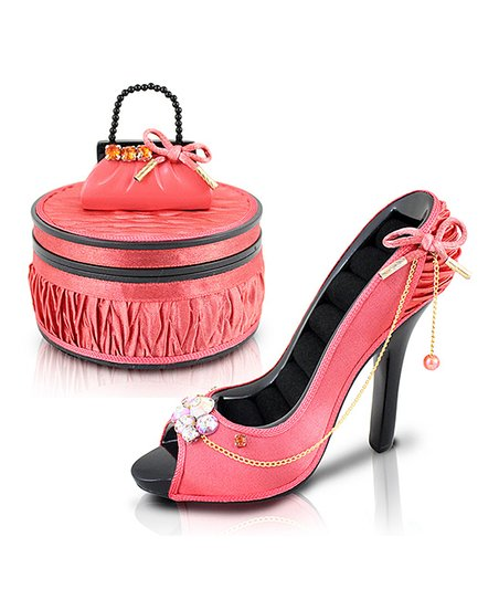 b379301a05e3 Jacki Design Coral Vintage Allure Peep Toe Shoe Ring Holder ...