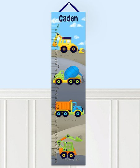 Toad And Lily Bright Construction Personalized Growth Chart Best Price And Reviews Zulily