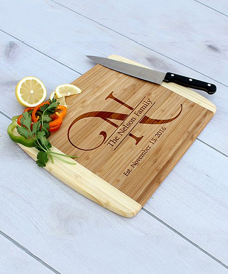 Etchey Bamboo Large Initial Personalized Cutting Board Best Price And Reviews Zulily