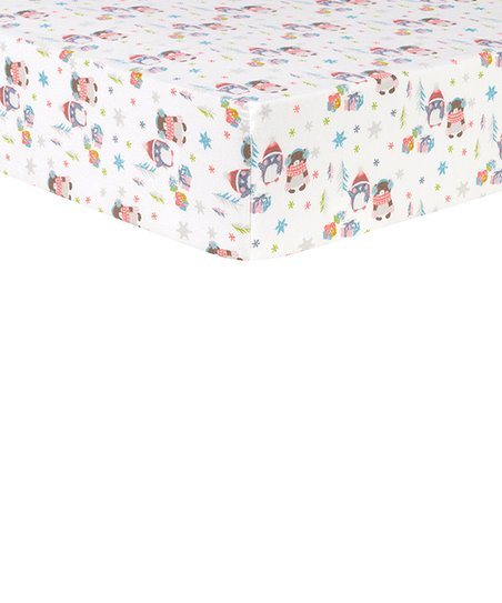 Trend Lab Deluxe Flannel Fitted Crib Sheet Winter Wishes