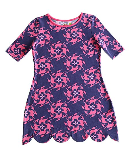 dca93c82aeaf love this product Purple   Pink Elephant Abby Scallop Dress - Girls