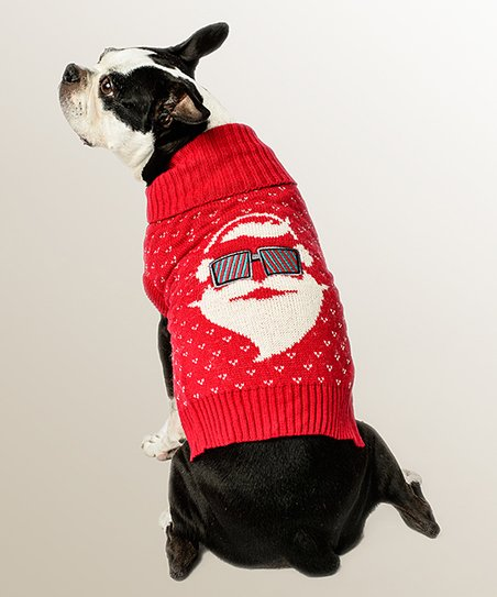 Boston Terrier Christmas Sweater.Designs By Chibi Red Santa Christmas Dog Sweater Zulily
