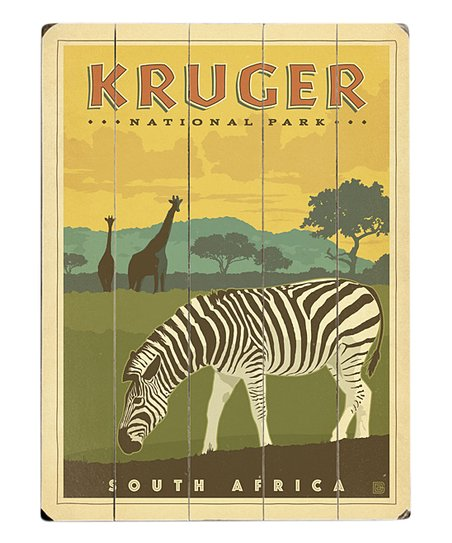 Artehouse Kruger National Park South Africa Wood Wall Art