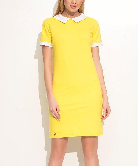 Yellow Collared Dress