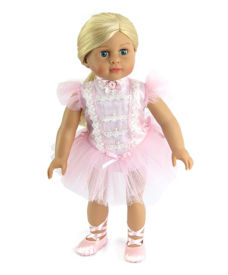 954c03c528e10 American Fashion World Light Pink Ballerina Outfit for 18 Doll   Zulily
