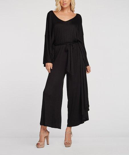 124a8585c5c Annabelle LA Black Ruffle Wide-Leg Jumpsuit