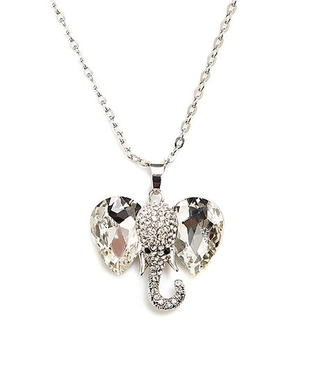 f683f081d love this product Silvertone Elephant Pendant Necklace With Swarovski®  Crystals