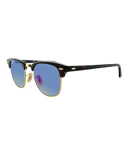 Ray-Ban Havana   Blue Flash Gradient Clubmaster Sunglasses - Unisex ... 48524bba75cff