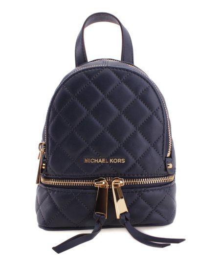 54ffbeda77d6 Michael Kors Navy Rhea Extra Small Quilted Leather Backpack   Zulily