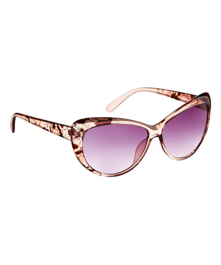 daff4ff551e Fashion USA Brown Butterfly Cat-Eye Bifocal Reader Sunglasses