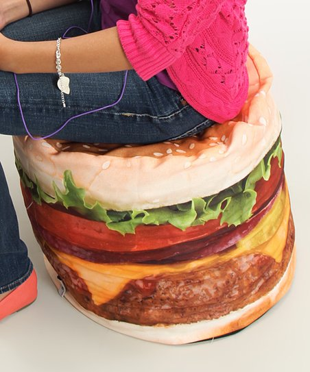 Terrific Wow Works Small Hamburger Beanbag Zulily Gmtry Best Dining Table And Chair Ideas Images Gmtryco