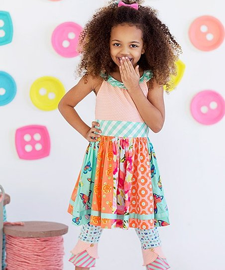 c33f4553077 love this product Orange   Green Trifle Pudding A-Line Dress - Toddler