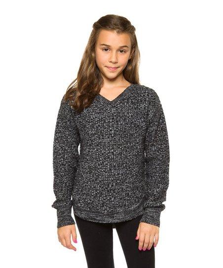 2afd8eede72f Devoted Light Gray V-Neck Sweater - Girls