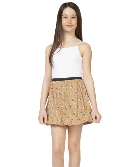 a1e48405e1 love this product Maple Pineapple Bubble-Hem A-Line Skirt - Girls