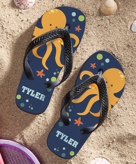 bb9491107213 Personalized Planet Octopus Personalized Flip-Flop