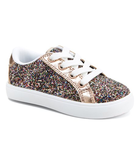 67c80318baf love this product Rose Gold Emilia Sparkle Sneaker - Girls