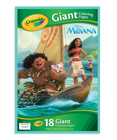 Crayola Moana Giant Coloring Pages Book Zulily