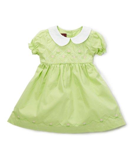 0559f1bae95f4 Lil Cactus Light Green Peter Pan Collar Dress - Infant & Girls   Zulily