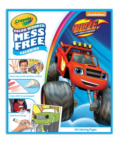 Crayola Blaze The Monster Machines Color Wonder Mess Free Coloring