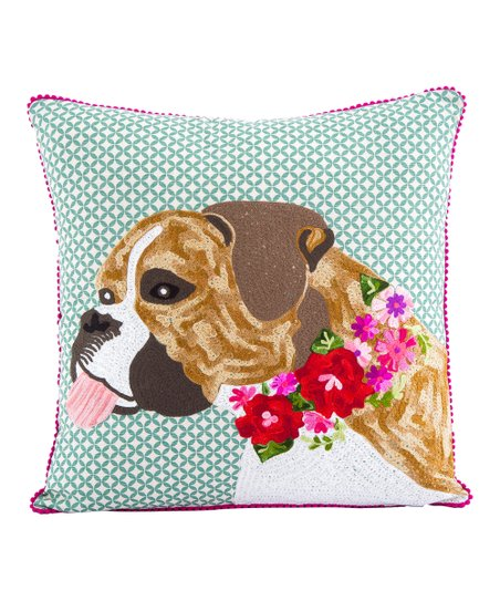 Karma Living Bulldog Embroidered Throw Pillow Best Price And Reviews Zulily