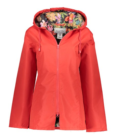 71f14416e7c love this product Red Floral Lined Raincoat - Women
