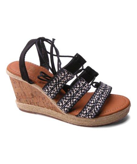 d8e5411563c7 Betani Black Shiloh Boho Wedge Sandal - Women