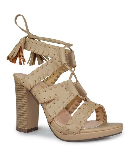 91d78814108 love this product Taupe Stitched Benjamin Sandal - Women