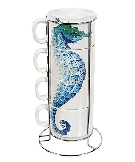 Dei Seahorse Ceramic Stackable Mug Stand Set Zulily