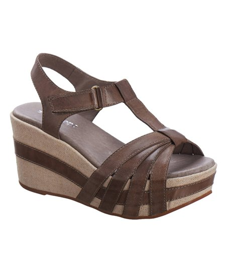 409d833c2529 Antelope Great T-Strap Leather Wedge Sandal - Women
