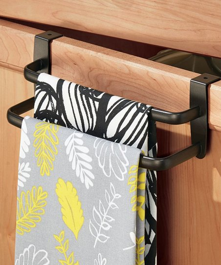 IDesign Bronze Axis Over The Cabinet Double Towel Bar   Zulily