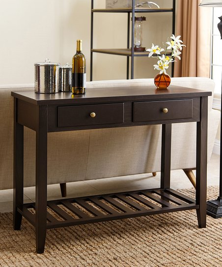 Espresso Calvin Sofa Table Zulily