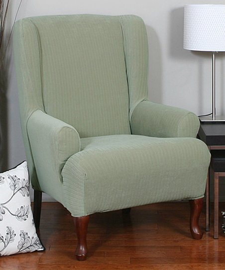 Caber SureFit Sage Spencer One-Piece Stretch Wing Chair Slipcover ... d3ac11b0c