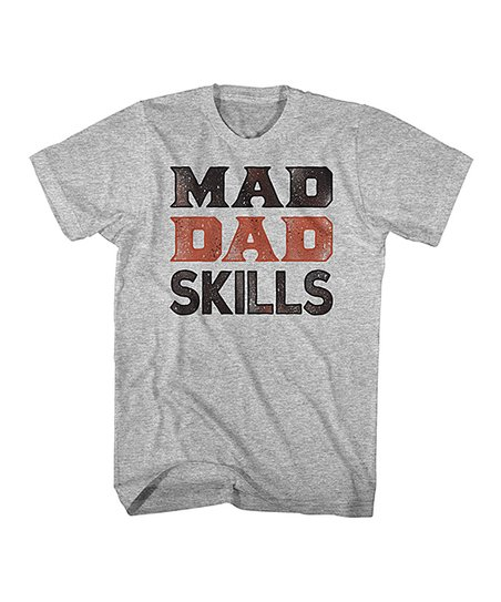 0e56dafd love this product Gray Heather 'Mad Dad Skills' Tee - Men