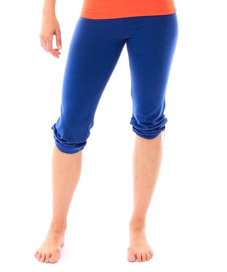 6c1b2e1f26 Hyde Apparel Denim Drawstring Organic Cotton Capri Yoga Pants | Zulily