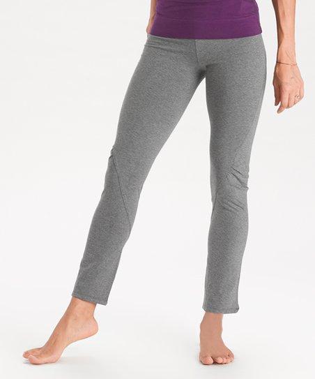 ea1a9f5fd6 love this product Smoke Heather Twisted-Seam Organic Cotton Yoga Leggings