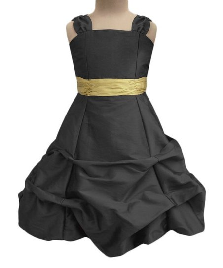 80a6a1c641 love this product Black   Gold Sash Ballroom Gown - Infant