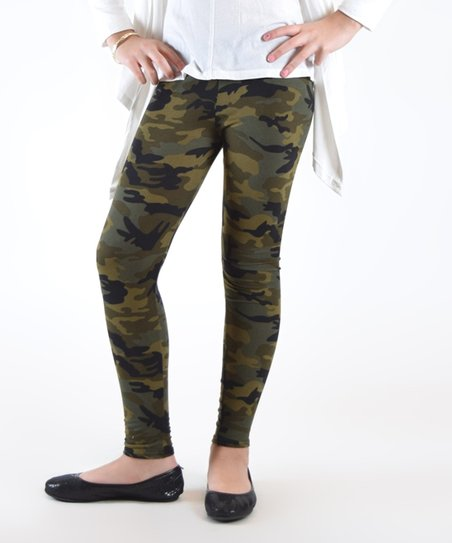 a0979d3922570 Dinamit Jeans Green Camo Leggings - Girls | Zulily