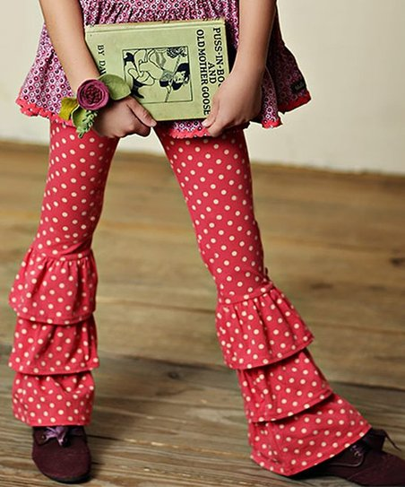 dba4bf8b0f112 love this product Red Polka Dot Bianca Bennys Ruffle Pants - Toddler & Girls
