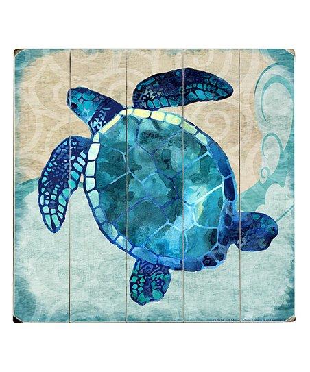 Artehouse Jill Meyer Sea Turtle Wood Wall Art