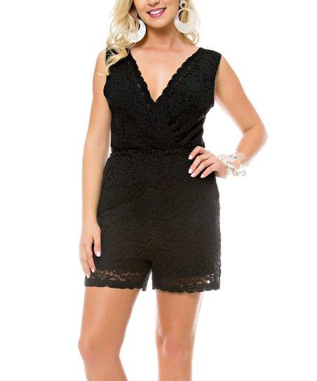 43a743713db Sara Boo Black Cutout V-Neck Romper - Women