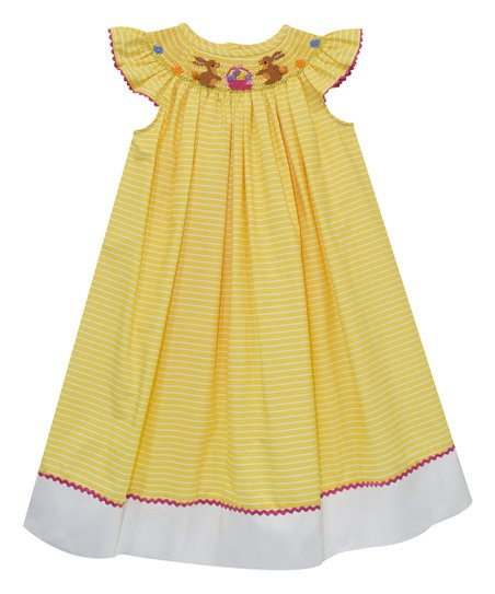 84da81bfc5d1 Vive La Fête Yellow Easter Smocked Bishop Dress - Toddler   Zulily